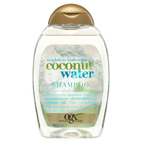 ogx shoo coconut water ogx shoo coconut water weightless hydration 385ml