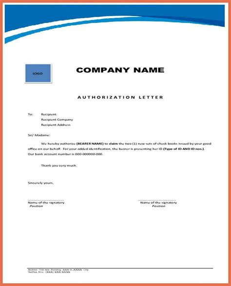 authorization letter format to attend meeting preparing an authorization letter my template collection