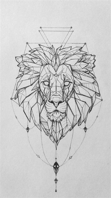 geometric lion tattoo 17 best ideas about geometric on
