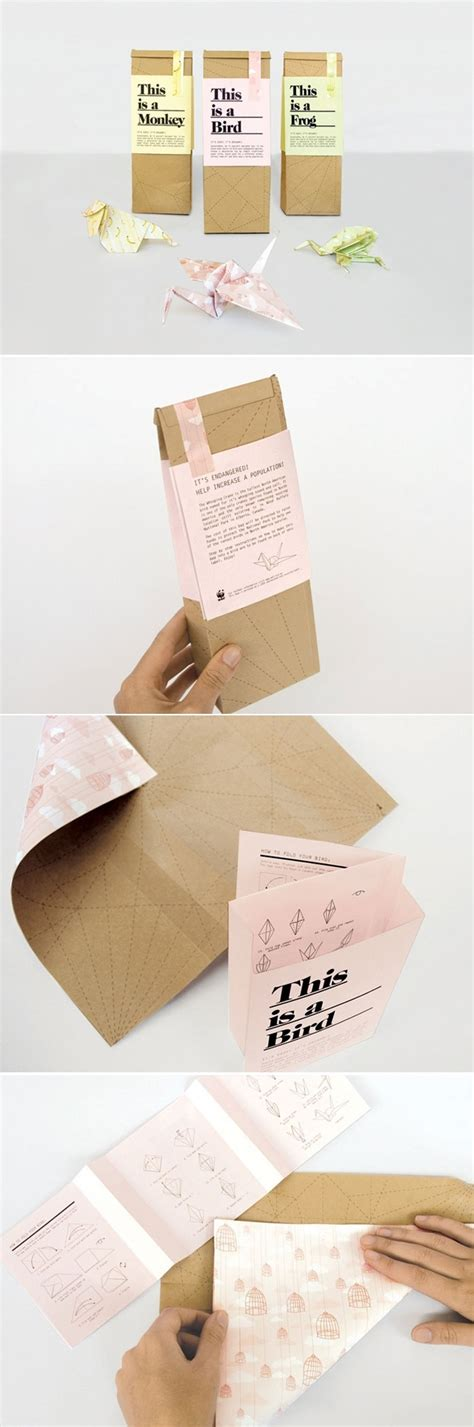 Visitor Pattern Fold   paperbags containing simple step by step instructions on