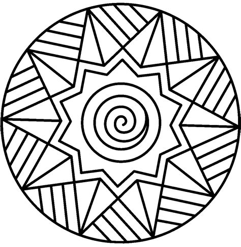 Free Printable Easy Coloring Pages Free Printable Mandalas For Kids Best Coloring Pages For by Free Printable Easy Coloring Pages