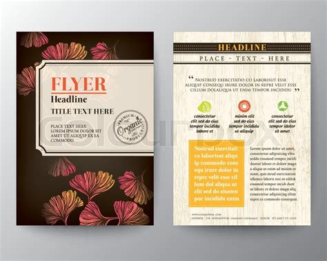 flyer graphic design layout brochure flyer graphic design layout vector template in a4