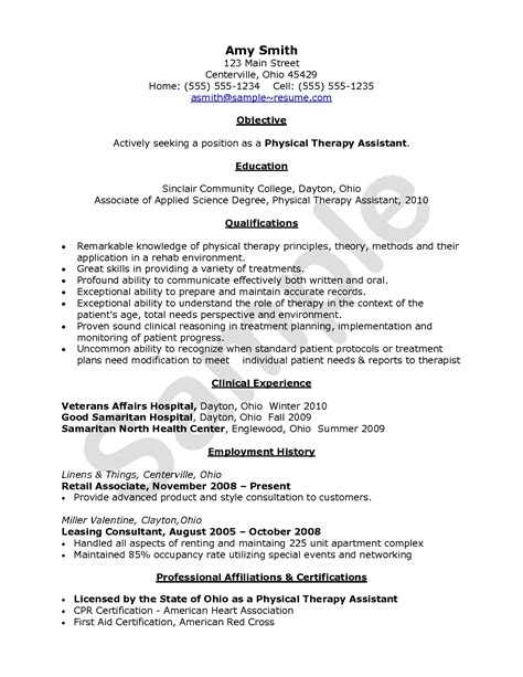 Sle Resume Entry Level Occupational Therapist 8 respiratory therapist resume doctors resume objectives
