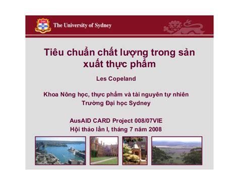 Lu Emergency Bai Chuan tieu chuan chat luong trong sx thuc pham
