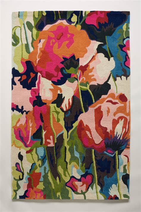 poppies rug brilliant poppies rug anthropologie