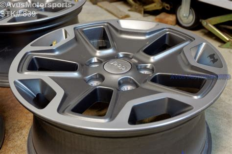 factory jeep wrangler wheels 2015 jeep wrangler rubicon oem factory 17 quot genuine wheels