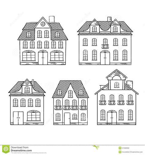 drawing cartoon houses maisons de dessin d expert d isolement illustration de