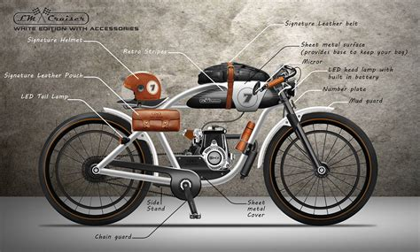 cruiser motor lm cruiser motorized bicycle on behance