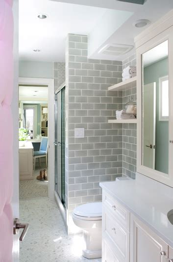 gray subway tile contemporary bathroom kristin peake interiors