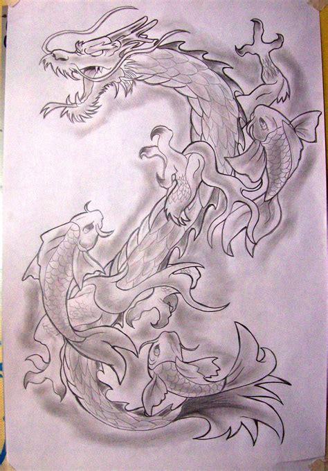 koi dragon tattoo koi by phantom ops deviantart on