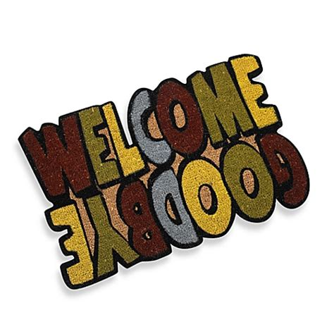 Welcome Goodbye Mat by Welcome Goodbye Door Mat Bed Bath Beyond