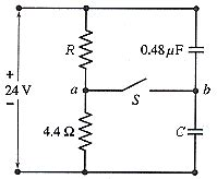 two resistors and two uncharged capacitors are arranged two resistors and two uncharged capacitors are arr chegg