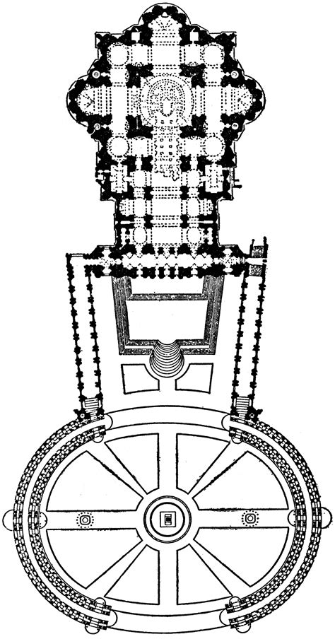 Plan of St Peter's at Rome, 1546–1564 | ClipArt ETC