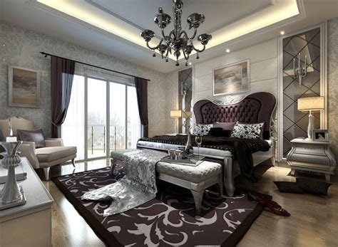Interior Design Styles Bedroom European Style Silver Bedroom Interior Design 3d House