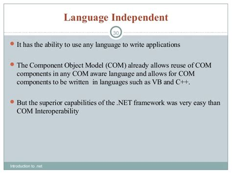 language independent net introduction by quontra solutions