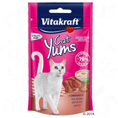 Vitakraft Cat Yums Liver 40gr vitakraft cat yums 40g free p p on orders 163 29 at zooplus