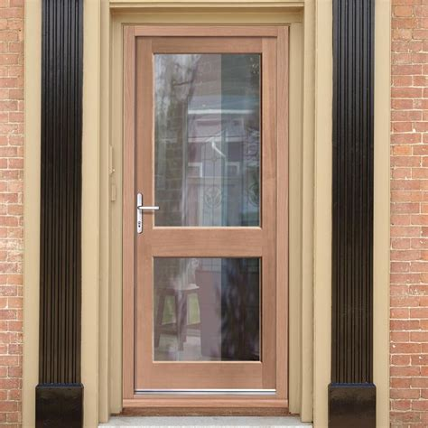 Glazed Front Doors Mahogany 2xgg Exterior Door With Toughened Glazing