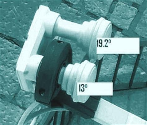 doppio illuminatore parabola installazione di un impianto dual feed sat technology