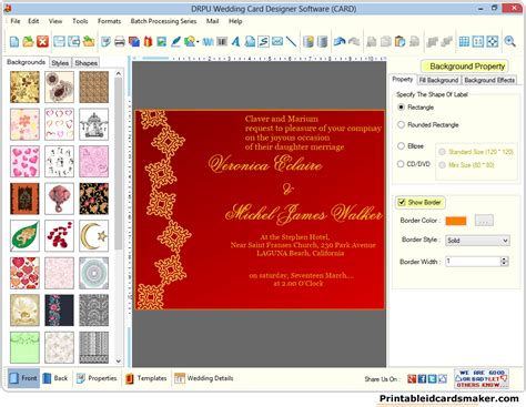 invitation card software wedding invitation design software free choice