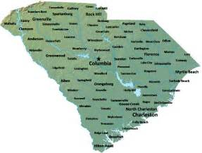 carolina map of cities map of south carolina map cities and towns worldofmaps