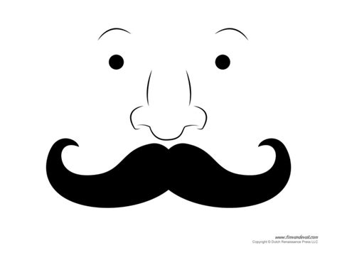 mustache template free printable mustache templates mustaches for