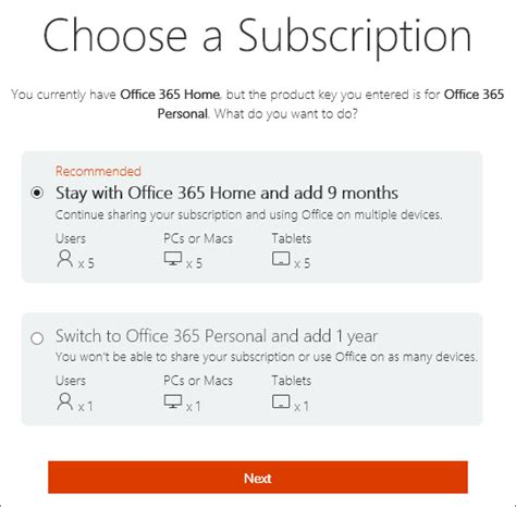 Office 365 Subscription Switch To A Different Office 365 For Home Subscription