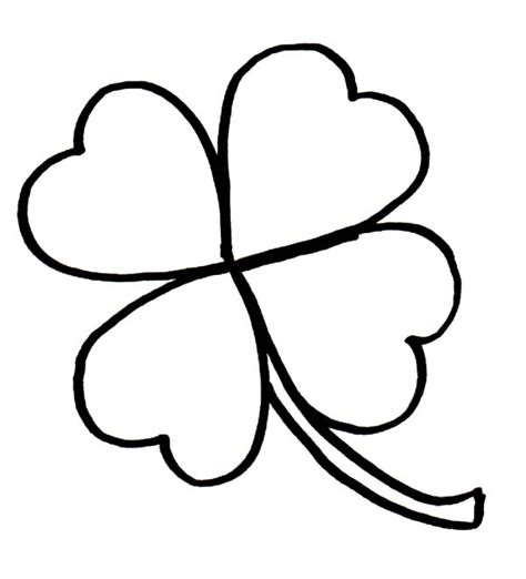 Coloring Page 3 Leaf Clover by Four Leaf Clover Coloring Pages Best Coloring Pages For