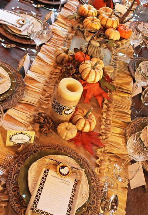 table decoration ideas for fall tabletop tuesday fall table setting ideas week 3