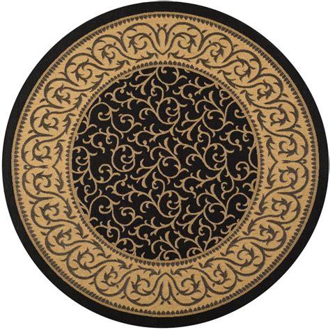 safavieh cy6014 46 courtyard indoor outdoor area rug black lowe s canada safavieh courtyard black 6 ft 7 in x 6 ft 7 in indoor outdoor area rug cy6014