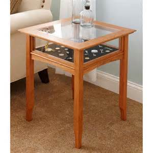 glass top display table woodworking plan from wood magazine
