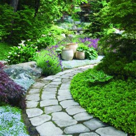 Backyard Landscaping Ideas With Stones by Garden Paths Lost In The Flowers