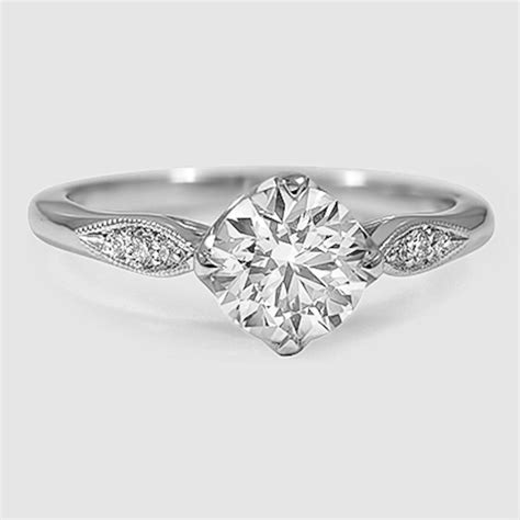Simple One Engagement Rings by Simple Silver Engagement Ring Www Pixshark Images