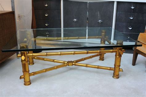 Gold Bamboo Coffee Table Regency Gold Bamboo Coffee Table At 1stdibs