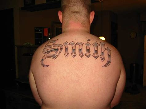 tattoo name on back name tattoos for men ideas and inspiration for guys