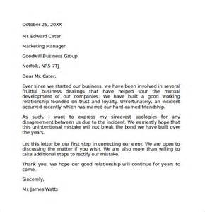 Business Apology Letter To Boss For Mistake Formal Apology Letter 7 Download Free Documents In Pdf