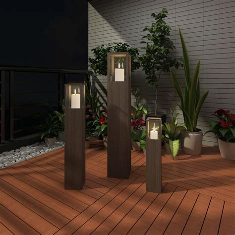 where to place landscape lighting vidaxl co uk garden candle stand set 3 pcs outdoor