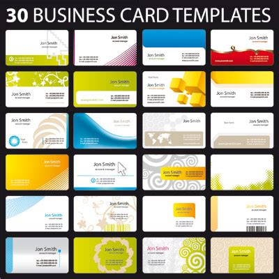 Templates Of Business Cards 30 business card templates free vector graphics