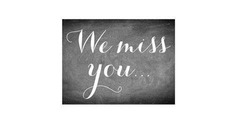 we miss you card template we miss you handwriting typography black white postcard