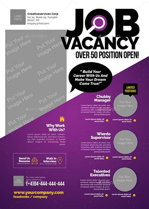 flyer design jobs job vacancy flyer by shamcanggih graphicriver