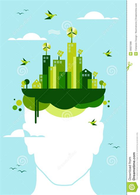 Green City People Idea Royalty Free Stock Photos   Image: 30027088