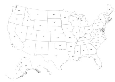 R Drawing Maps by Us Map Outline With State Abbreviations Bamboodownunder