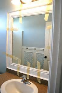 Diy Bathroom Mirror Frame Ideas by Diy Framed Mirror Ta Do S Pinterest