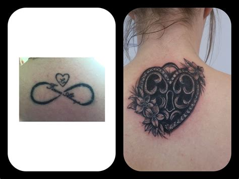 neck tattoo cover up cover up by dave in syston of this infinity sign