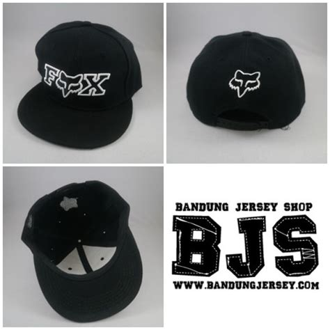 Ready Stock Topi Snapback Fox Hitam bjs sports apparel specialist