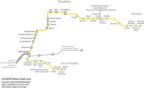 metro gold line map gold line foothill extension