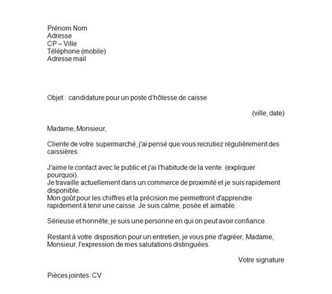 Exemple De Lettre De Motivation Hotesse Modele Lettre De Motivation Hotesse De Caisse Document