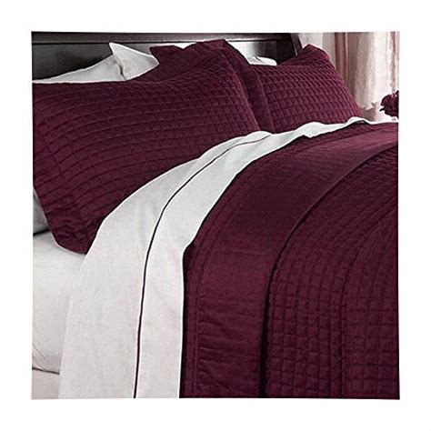 modern coverlets for beds modern reversible solid red burgundy quilt bedding