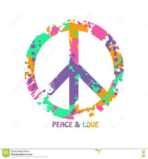 imagenes de simbolos hermosos s 237 mbolo colorido del hippie de la paz y del amor