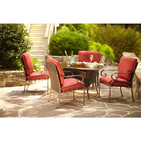 Martha Stewart Living Cedar Island 5 Piece All Weather Martha Stewart Patio Dining Set
