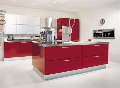 imagenes de cocinas integrales rojas cocinas rojas cocinas rojas y blancas nueva tendencia